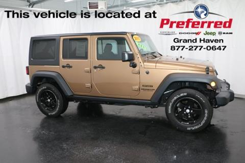 2015 Jeep Wrangler Unlimited for sale in Grand Haven, MI