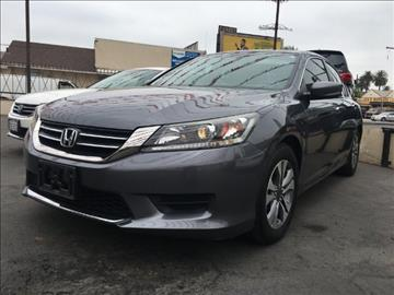 2013 Honda Accord for sale at ADVANTAGE AUTO SALES INC in Bell CA