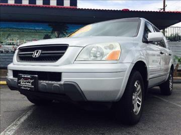 2005 Honda Pilot for sale at ADVANTAGE AUTO SALES INC in Bell CA