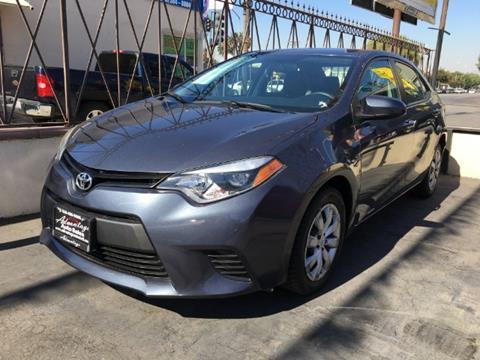 2014 Toyota Corolla for sale at ADVANTAGE AUTO SALES INC in Bell CA