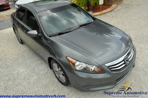 2012 Honda Accord for sale at Supreme Automotive in Land O Lakes FL