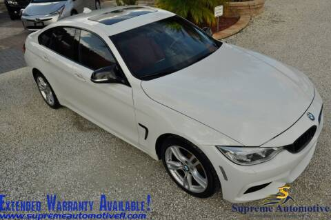 2015 BMW 4 Series for sale at Supreme Automotive in Land O Lakes FL