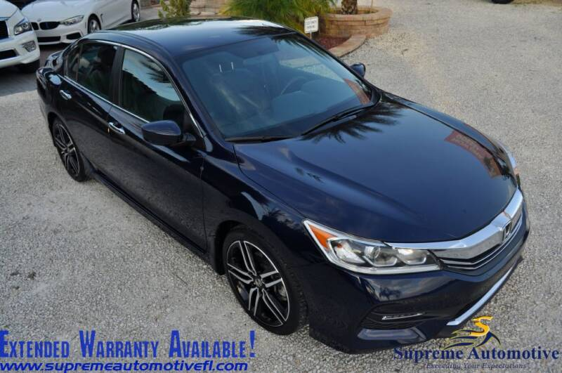 2017 Honda Accord for sale at Supreme Automotive in Land O Lakes FL