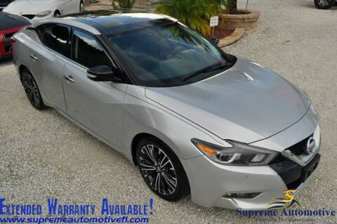 2017 Nissan Maxima for sale at Supreme Automotive in Land O Lakes FL