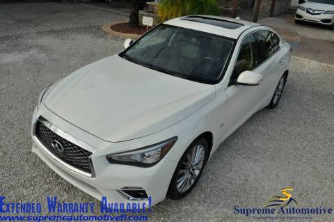 2018 Infiniti Q50 for sale at Supreme Automotive in Land O Lakes FL