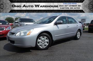 2004 Honda Accord for sale at Ohio Auto Warehouse in Canton OH