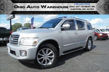 2008 Infiniti QX56 for sale at Ohio Auto Warehouse in Canton OH