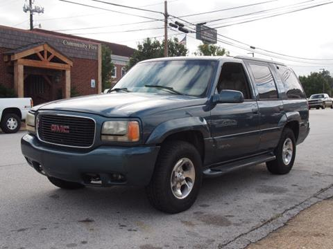 1999 GMC Yukon for sale at Andy Yeager Motors in Harrison AR