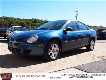 2004 Dodge Neon for sale at Andy Yeager Motors in Harrison AR