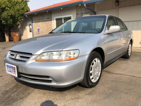 2002 Honda Accord for sale at Martinez Truck and Auto Sales in Martinez CA