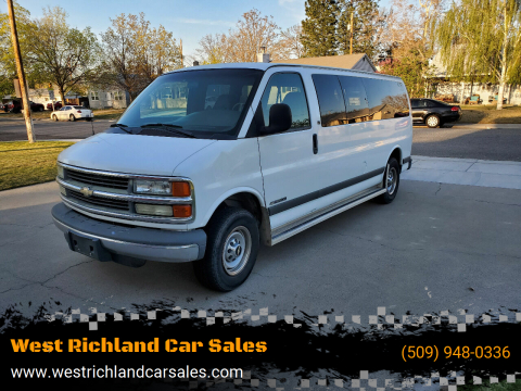 2002 Chevrolet Express Passenger G3500 LS for sale at West Richland Car Sales in West Richland WA