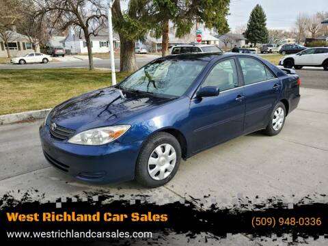 2002 Toyota Camry LE V6 for sale at West Richland Car Sales in West Richland WA