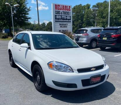 2016 Chevrolet Impala Limited for sale at Reliable Cars & Trucks LLC in Raleigh NC
