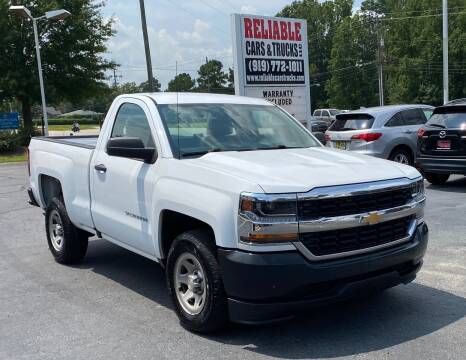 2016 Chevrolet Silverado 1500 for sale at Reliable Cars & Trucks LLC in Raleigh NC