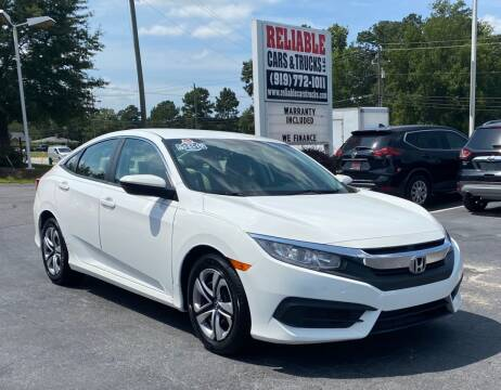 2017 Honda Civic for sale at Reliable Cars & Trucks LLC in Raleigh NC