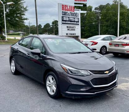 2016 Chevrolet Cruze for sale at Reliable Cars & Trucks LLC in Raleigh NC