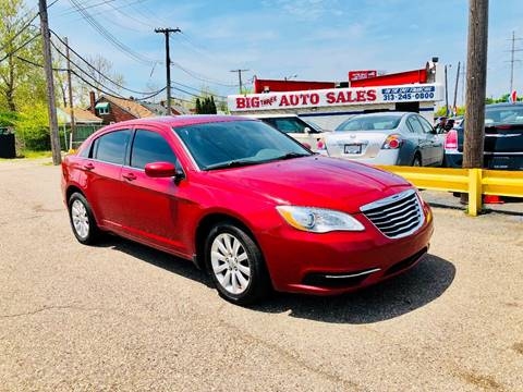 2012 Chrysler 200 for sale at Big Three Auto Sales Inc. in Detroit MI
