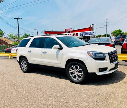 2013 GMC Acadia for sale at Big Three Auto Sales Inc. in Detroit MI