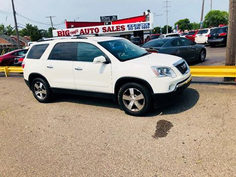 2010 GMC Acadia for sale at Big Three Auto Sales Inc. in Detroit MI