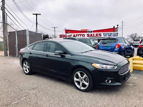 2015 Ford Fusion for sale at Big Three Auto Sales Inc. in Detroit MI