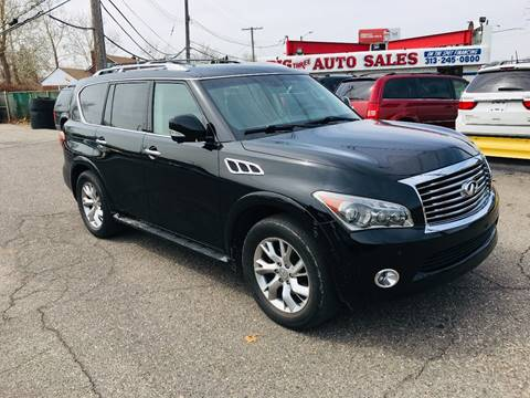 2012 Infiniti QX56 for sale at Big Three Auto Sales Inc. in Detroit MI