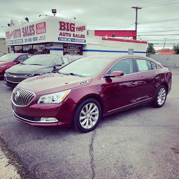 2016 Buick LaCrosse for sale at Big Three Auto Sales Inc. in Detroit MI