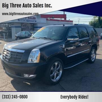2011 Cadillac Escalade for sale at Big Three Auto Sales Inc. in Detroit MI