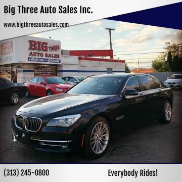 2013 BMW 7 Series for sale at Big Three Auto Sales Inc. in Detroit MI