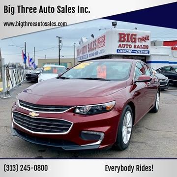 2016 Chevrolet Malibu for sale at Big Three Auto Sales Inc. in Detroit MI