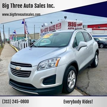 2016 Chevrolet Trax for sale at Big Three Auto Sales Inc. in Detroit MI