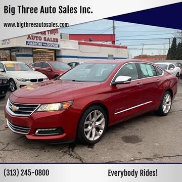 2015 Chevrolet Impala for sale at Big Three Auto Sales Inc. in Detroit MI
