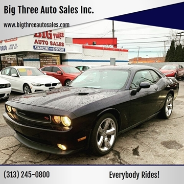 2012 Dodge Challenger for sale at Big Three Auto Sales Inc. in Detroit MI