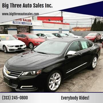 2016 Chevrolet Impala for sale at Big Three Auto Sales Inc. in Detroit MI