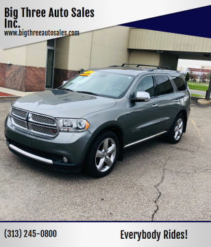 2012 Dodge Durango for sale at Big Three Auto Sales Inc. in Detroit MI