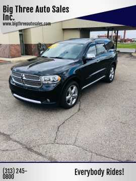 2014 Dodge Durango for sale at Big Three Auto Sales Inc. in Detroit MI