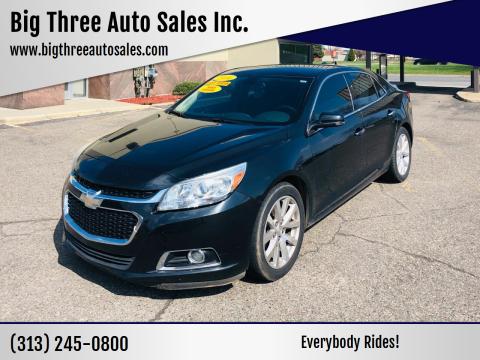 2014 Chevrolet Malibu for sale at Big Three Auto Sales Inc. in Detroit MI
