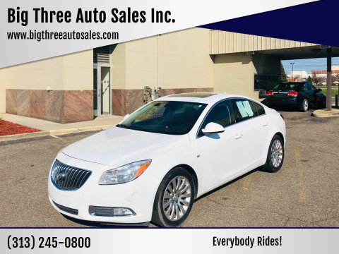 2011 Buick Regal for sale at Big Three Auto Sales Inc. in Detroit MI