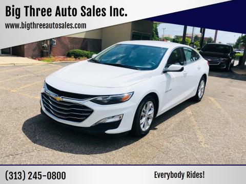 2019 Chevrolet Malibu for sale at Big Three Auto Sales Inc. in Detroit MI