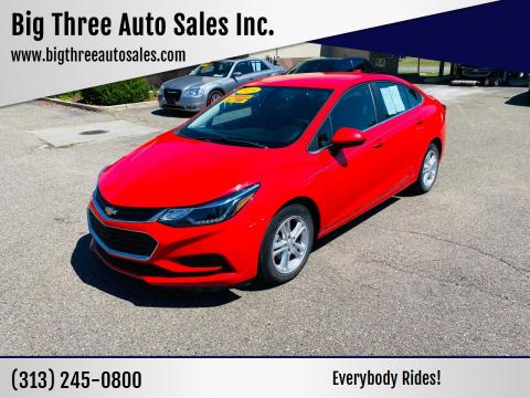 2018 Chevrolet Cruze for sale at Big Three Auto Sales Inc. in Detroit MI