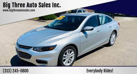 2018 Chevrolet Malibu for sale at Big Three Auto Sales Inc. in Detroit MI