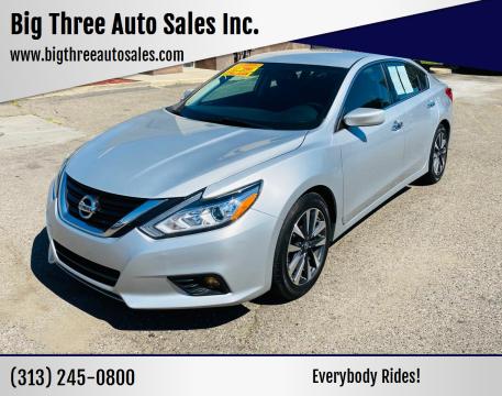 2017 Nissan Altima for sale at Big Three Auto Sales Inc. in Detroit MI