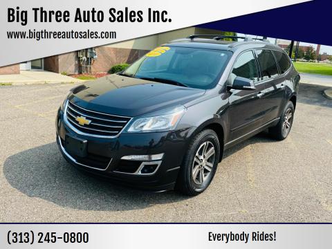 2015 Chevrolet Traverse for sale at Big Three Auto Sales Inc. in Detroit MI