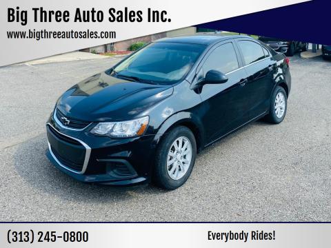 2019 Chevrolet Sonic for sale at Big Three Auto Sales Inc. in Detroit MI