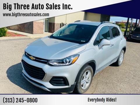 2017 Chevrolet Trax for sale at Big Three Auto Sales Inc. in Detroit MI