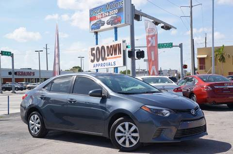 2015 Toyota Corolla for sale in Hialeah, FL