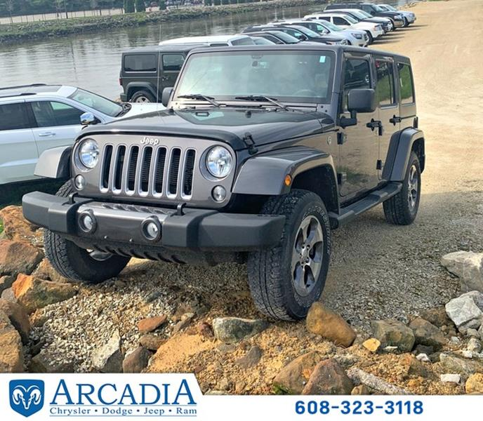 2016 Jeep Wrangler Unlimited 4x4 Sahara 4dr SUV In Arcadia