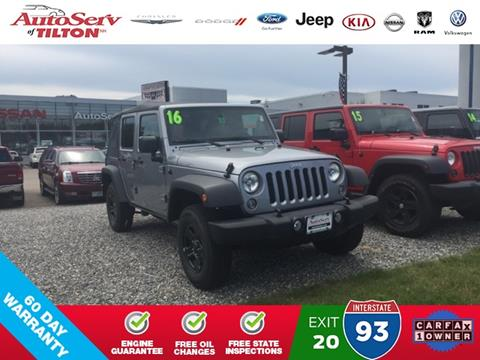 2016 Jeep Wrangler Unlimited for sale in Tilton, NH