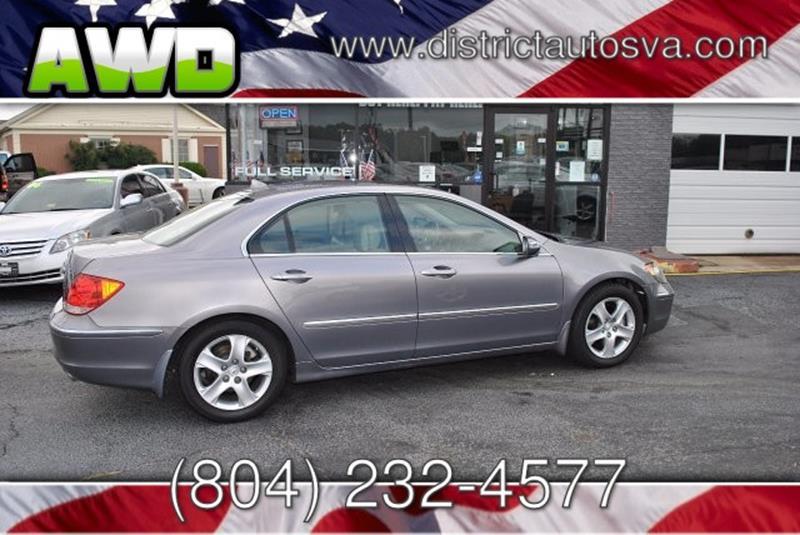 Acura RL SHAWD In Richmond VA DISTRICT AUTOS - Acura dealership in richmond va