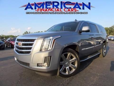 2016 Cadillac Escalade ESV for sale at American Financial Cars in Orlando FL