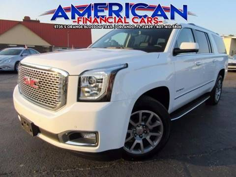 2017 GMC Yukon XL for sale at American Financial Cars in Orlando FL